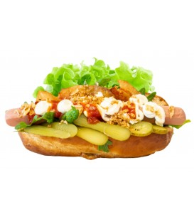 Hot dog Frankfurt con iceberg