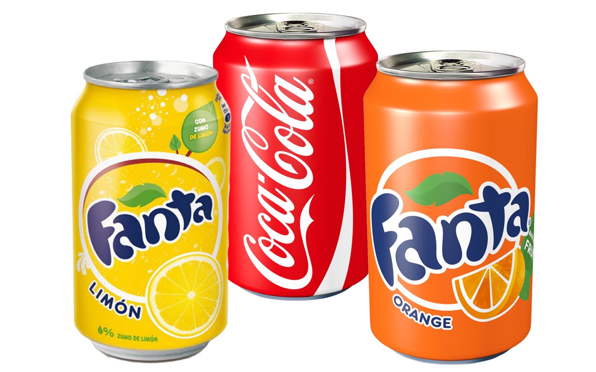 Coca Ccola - Fanta Limon - Fanta Orange